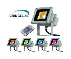 Projecteur LED extérieur - 10W - RGB - Multicolore - Ampoules à LEDs