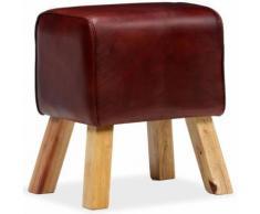 Meelady Banc Cuir Véritable pour Couloir, Salon ou Salle à Manger Marron 40 x 30 x 45 cm - Chaise
