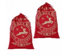 Noël Père Noël Sac Grand Sac Jute cadeaux de Noël Cadeaux de Noël remplisseur de bas Kiliaadk346 - Boite de rangement