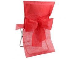 SANTEX Housse de Chaise avec Noeud Rouge - Rideaux et stores