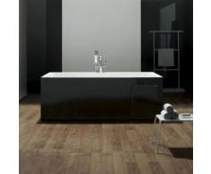Baignoire ilot rectangulaire - acrylique noir - 170x80 cm - london - Installations salles de bain