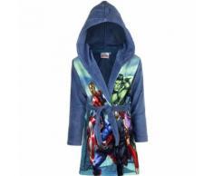 Peignoir polaire Les Avengers 4 ans robe de chambre capuche bleu - Linge de bain