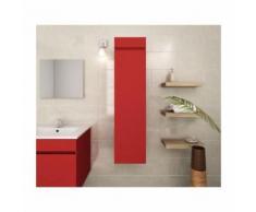 LUNA Colonne de salle de bain L 30 cm - Rouge mat - Meubles de salle de bain