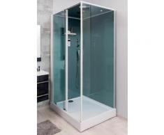Aqua+ - cabine de douche rectangle transparent accès de face porte coulissante 90x120 - adely gauche - Installations salles de bain