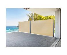 Paravent double Napa sable en Aluminium et polyester, 600 x 180 cm -PEGANE- - Objet à poser