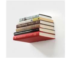 Etagère invisible en métal blanc pour livres - Décoration murale