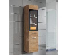 Armoire de rangement Rio Hauteur : 131 cm Lefkas (marron) - Meuble de rangement haut placard meuble de salle de bain - Installations salles de bain