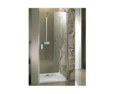Porte de douche droite universelle RIHO NAUTIC N101 90x200 cm en verre clair - Installations salles de bain