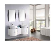 MEUBLE SALLE DE BAIN DOUBLE VASQUE LUXE, BEAU MEUBLE DOUBLE VASQUE 120 cm TIGER - Installations salles de bain