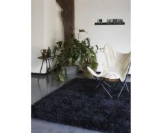 Tapis COOL GLAMOUR shaggy laiton Esprit Home Noir 70x140 - Tapis et paillasson
