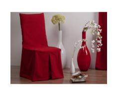 Housse de chaise bachette 100% coton rouge INES - Textile séjour