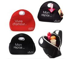 Lunch box Atelier Cuisine Rouge ou Noir 2.5L - Conservation