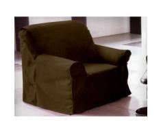 Housse de fauteuil PANAMA taupe 90x270 cm - Rideaux et stores