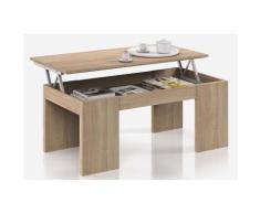 Table Basse à Plateau Relevable coloris chêne canadien - Dim : 100 x 50 x 42 cm -PEGANE- - Objet à poser