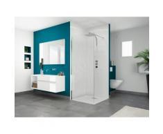 Cabine de douche Smart Solo - 79 x 79 x 197.5 cm - Profilé blanc - Installations salles de bain