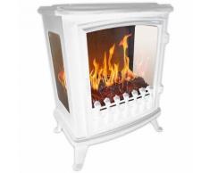 Chemin'arte - cheminée électrique 2000w avec flamme 3d blanc - 140 blanc - Chauffage et ventilation