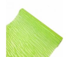 Chemin de table intissé floque ecorce coloris Menthe - 29 cm x 5 m - Objet à poser