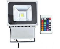 Projecteur led 100 watt (eq. 900 watt) RGB - Couleur eclairage - RVB (Rouge Vert Bleu) - Ampoules à LEDs