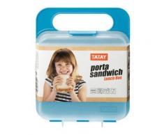 Lunch box carré - Turquoise - Objet à poser