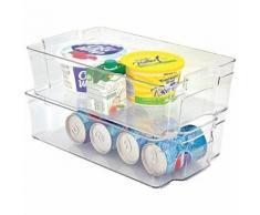 Boîte de Rangement pour Réfrigérateur Plastique Transparent 37 x 21,5 x 10 cm 8 L - Meubles de cuisine