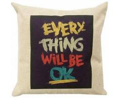 Coussin décoratif Every thing will be ok - Textile séjour