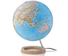 Lampe globe terrestre bleu Neon Classic sur socle - Objet à poser