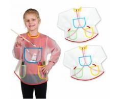 2 Tabliers Blouse de peinture, bricolage, cuisine - Enfant - Linge de table