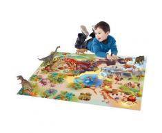 Tapis enfant jeu circuit CONNECTE DINOSAURES Tapis Enfants par House Of Kids 100 x 150 cm - Tapis et paillasson