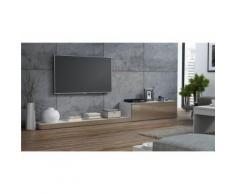 Ensemble meuble TV design LIME II - Blanc et taupe - Meubles TV