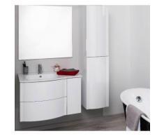 Aqua+ - meuble salle de bain blanc à suspendre 80cm - rony - Installations salles de bain