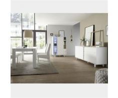 Nouvomeuble - Salle à manger design blanc laqué palazio 3 - Tables salle à manger