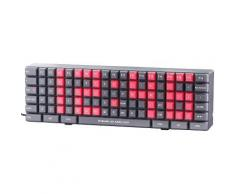 Horloge à LED design clavier PC - Décoration murale