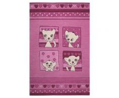 Tapis enfant Kitty Kat par Smart Kids Violet 150x220 - Tapis et paillasson