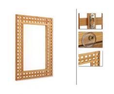 Miroir salle de bain en bambou, H70 x P2 x L50 cm -PEGANE- - Miroir
