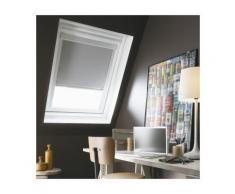 Store Enrouleur Occultant compatible Cadre Alu VELUX® - 117 x 74/116cm - U04/U08-Gris - Fenêtres et volets