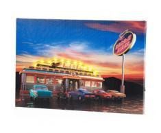 Tableau lumineux à LED Rock It Diner 45 x 30 cm - Eclairage extérieur