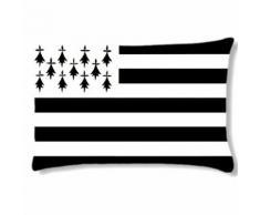 Grand coussin rectangulaire by Cbkreation - Bretagne - Textile séjour