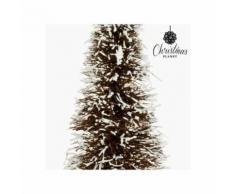Sapin de noël rotin naturel blanc (15 x 15 x 40 cm) by christmas planet - Objet à poser