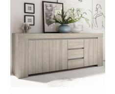Enfilade moderne couleur bois clair MURANO - L 210 x P 51 x H 83 cm - Buffets