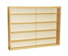 Watsons - REVEAL - Vitrine Collectionneur murale 4 etageres - finition chene - Vitrines