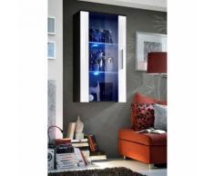 Paris prix - vitrine led murale design 'neo' 110cm noir & blanc brillant - Vaisseliers