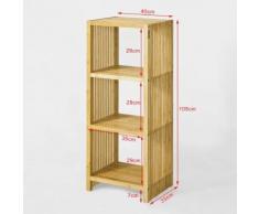 SoBuy® Étagère Bibliothèque en bambou -4 niveaux , FRG120-N FR - Bibliothèques