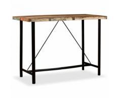 KKmoon Table de bar en Bois Table de Salle à Manger 50 x 70 x 107 cm - Tables hautes