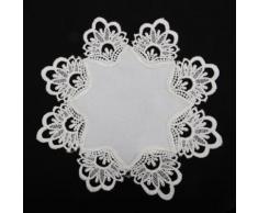 Napperon crocheté (30cm x 30cm) (Crème) - UTMS133 - Linge de table