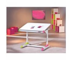 Bureau enfant modulable orientable rectangulaire ergonomique reglable rose vert - Bureaux