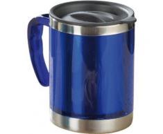 esmeyer 305-012 gobelet isotherme en inox extérieur en plastique livré dans une boîte avec photo bleu hauteur 11,5 cm 0,38 litre - Accessoires de rangement