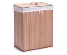 Zeller 13413 Panier à linge à compartiments bambou naturel, 52 x 32 x 63 cm - Accessoires Lave linge/Sèche Linge