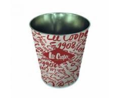 Pierre henry lee cooper corbeille conique - décor original - en métal - classé non feu m1 - 7,5 l - imprimé vernis brillant - Poubelle