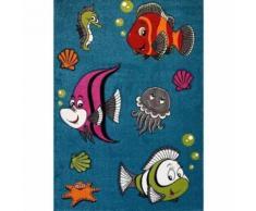 FISH Tapis pour enfant 160x230 cm turquoise, vert et orange - Tapis et paillasson