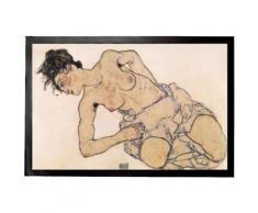 Egon Schiele Paillasson Essuie-Pieds - Femme À Moitié Nue, 1917 (40x60 cm) - Tapis et paillasson